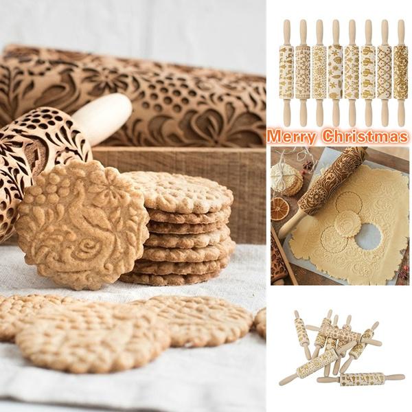 Baking, Christmas, woodenrollingpin, Wooden