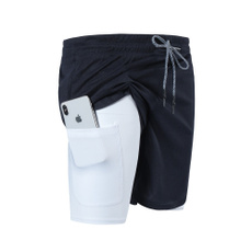Fitness, Shorts, Zip, pants