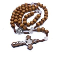 catholic, rosary, Jewelry, Wooden