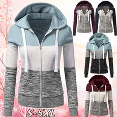 Women, Plus Size, Hoodies, Zip