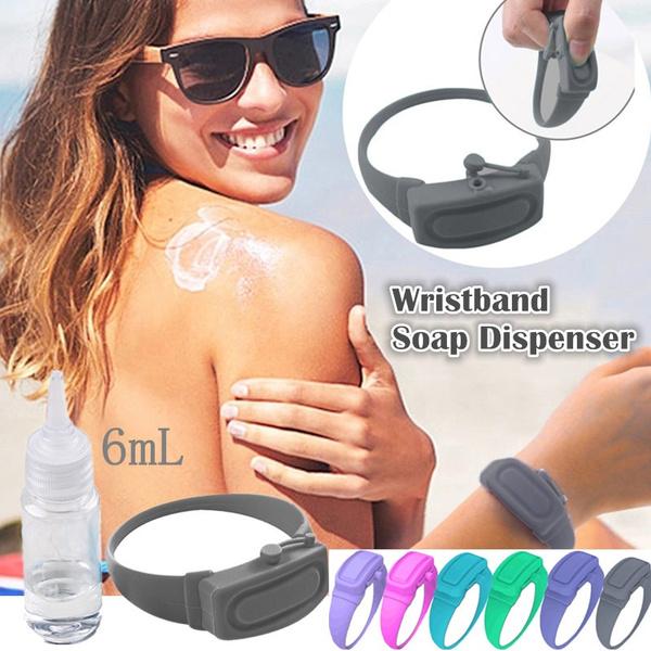 sanitizerdispenser, disinfectant, portable, wristbanddispenser