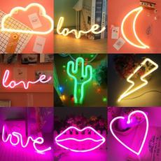 led, rainbow, lights, Love