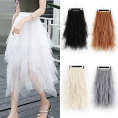 long skirt, longtulleskirt, Waist, ladiesskirt