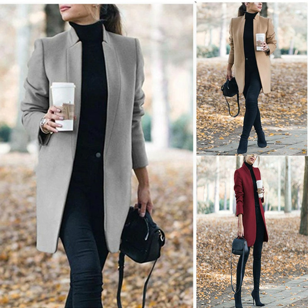 woolen, woolen coat, Plus Size, Fashion