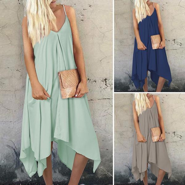 plaindres, loosecasual, Beach, Dress