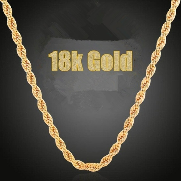 18kgoldnecklace, Jewelry, gold, Classics