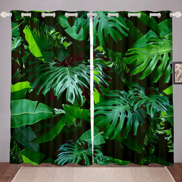 tropicalleave, thermalinsulatedcurtain, leaf, vorhang