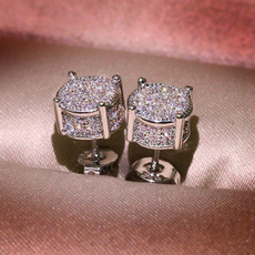 Sterling, Stud, Stud Earring, wedding earrings