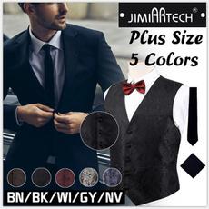 sleeveless, Vest, Fashion, Necktie