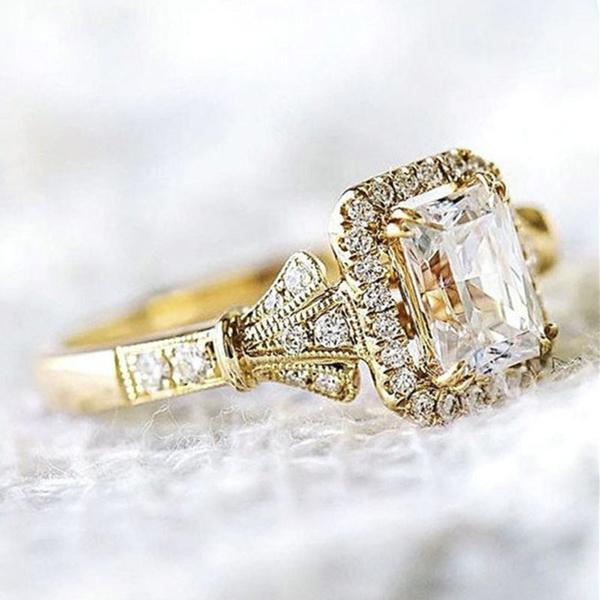 18 k, DIAMOND, wedding ring, gold