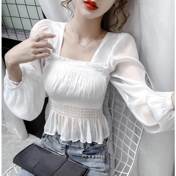 blouse, Fashion, crop top, chiffon blouse