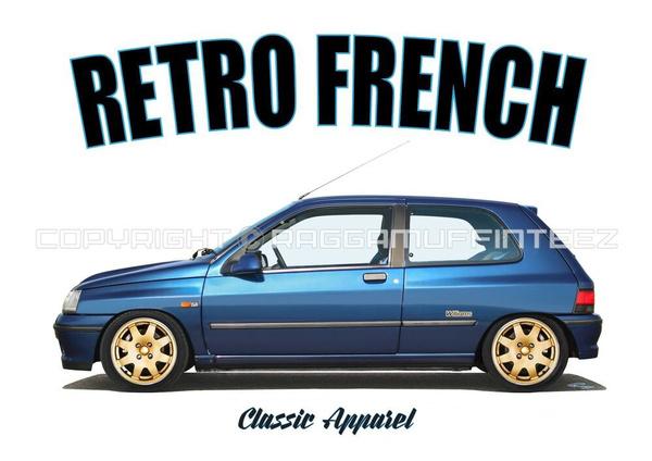 Shirt, renault, Classics, Cars