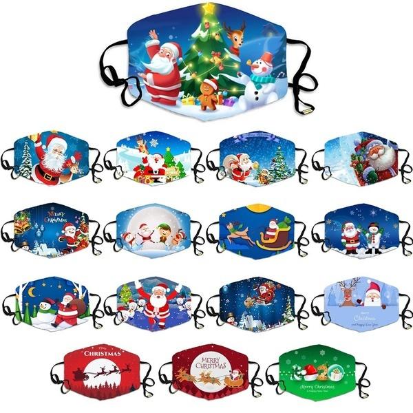 snowman, Fashion, mouthmask, Christmas