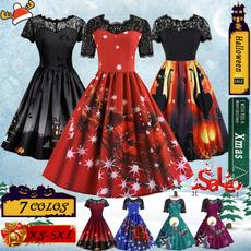 Plus Size, Print Dresses, Lace, Festival