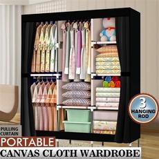 storagerack, diynonwovenwardrobe, clothesorganizationbag, Home & Living