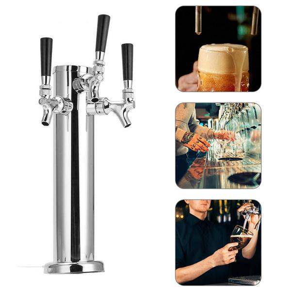 Steel, Faucets, stainlesssteelbeertower, draftbeertower