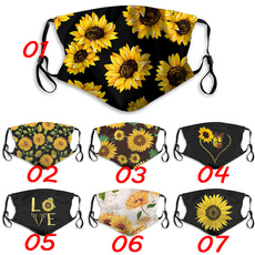 butterfly, Algodón, mouthmask, Sunflowers