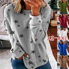 blouse, Plus Size, Star, Cotton T Shirt