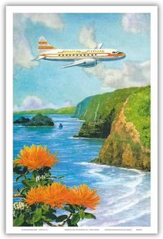aquariumdecor, art, vintageposter, Hawaiian