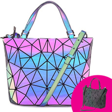 women bags, womenshoulderhandbag, luminousbag, Colorful