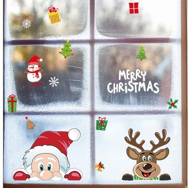 windowsticker, Christmas, Gifts, santaclaussticker