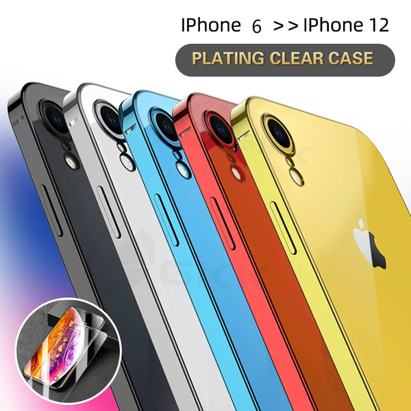 Original Luxury Plating Soft Case For IPhone XR 12 Case Classic Straight Edge Camera Protection Cover For IPhone XR 12 Coque | Wish