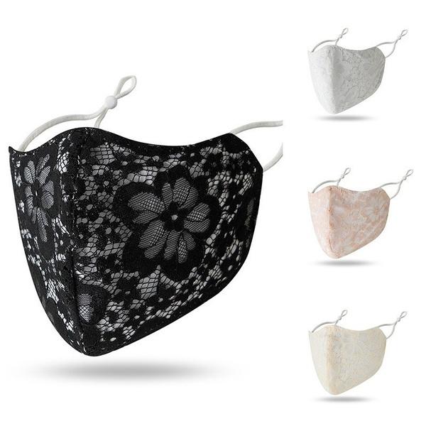 Floral print, Lace, Cover, printedmask