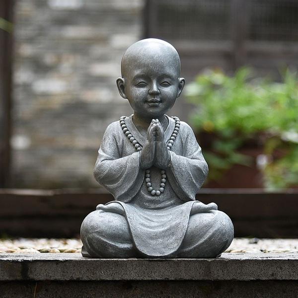 monkstatue, art, Garden, gardenbuddha