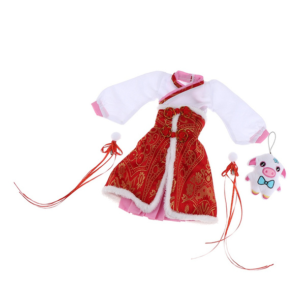 apron, 13, Chinese, doll
