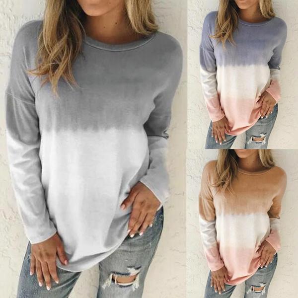gradientcolor, Plus Size, Shirt, tunic top