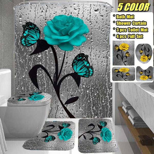 butterfly, Shower, Bathroom, bathroomdecor