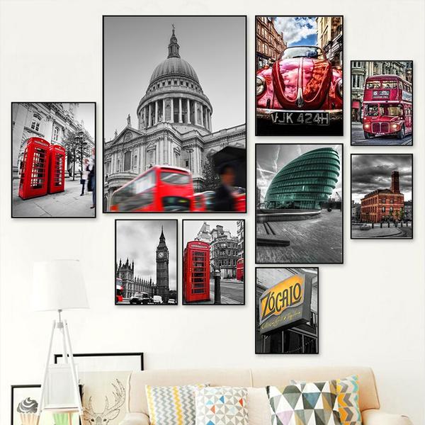 art print, redcar, art, minimalistpicture