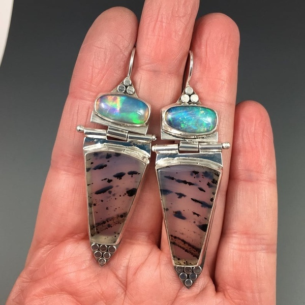 Sterling, DIAMOND, Dangle Earring, Sterling Silver Earrings