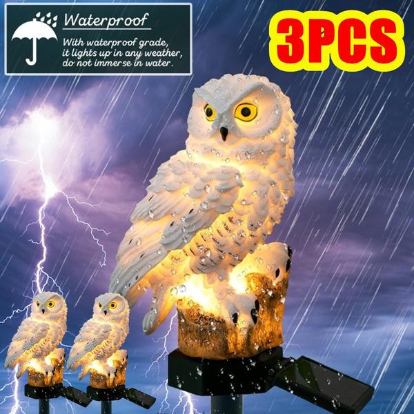 Owl, autoonofflamp, Outdoor, solargardenlight