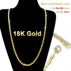 Fashion necklaces, Chain, Classics, 18kgoldnecklace