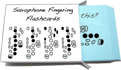 flashcard, fingering, Set, saxophone