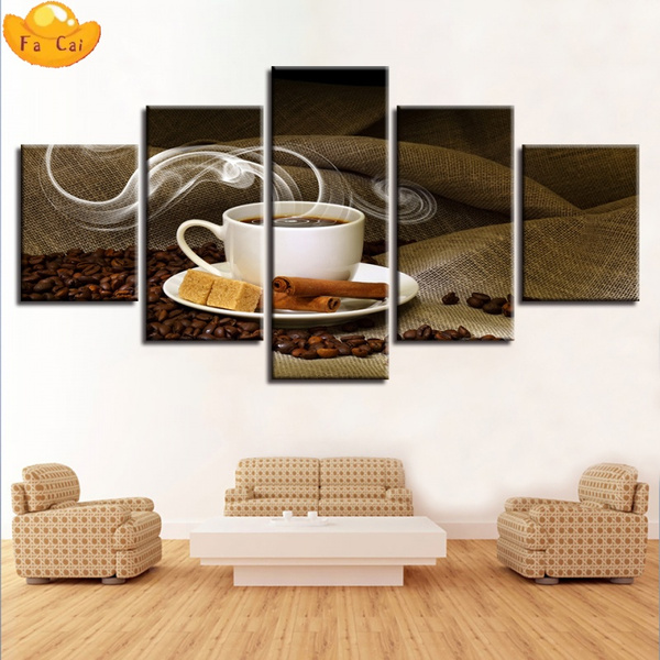 Coffee, art, Home Decor, canvaspainting