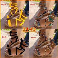 Summer, Plus Size, Platform Shoes, Lace