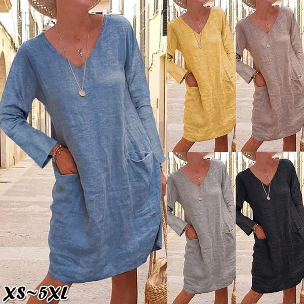Mini, Round neck, Plus Size, sleeve dress