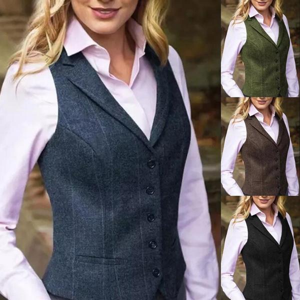 Vest, Plus Size, Winter, Classics
