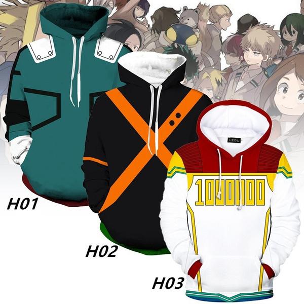 3D hoodies, myheroacademia, Cosplay, Winter