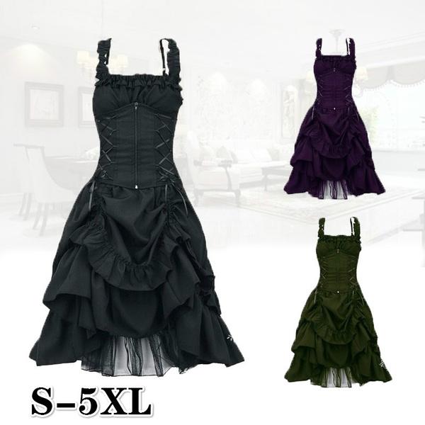GOTHIC DRESS, gothic lolita, long dress, Halloween Costume