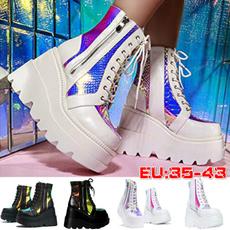 casual shoes, anklebootsforwomen, Platform Shoes, Lace