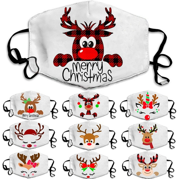 Fashion, Christmas, reindeerprintmask, unisex