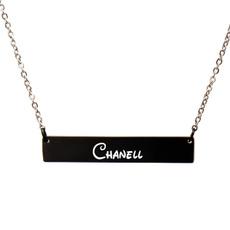 blackjewelry, Jewelry, barnecklace, namenecklace