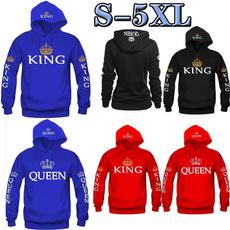 King, hooded, Hoodies, Sleeve