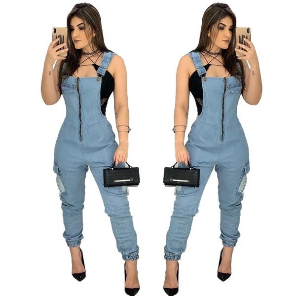 fashion women, trousers, denim overalls women, overallsjumpsuit