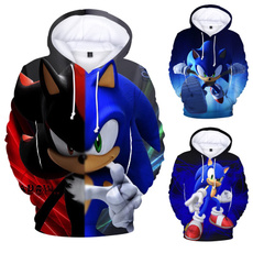 sonicthehedgehoghoodie, 3D hoodies, Fashion, Winter