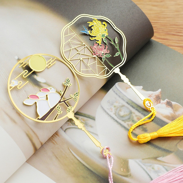 chinesewindbookmark, creativebearbookmark, Tassels, bookmarkmarker