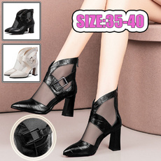 ankle boots, Sandals, Spring/Autumn, Buckles